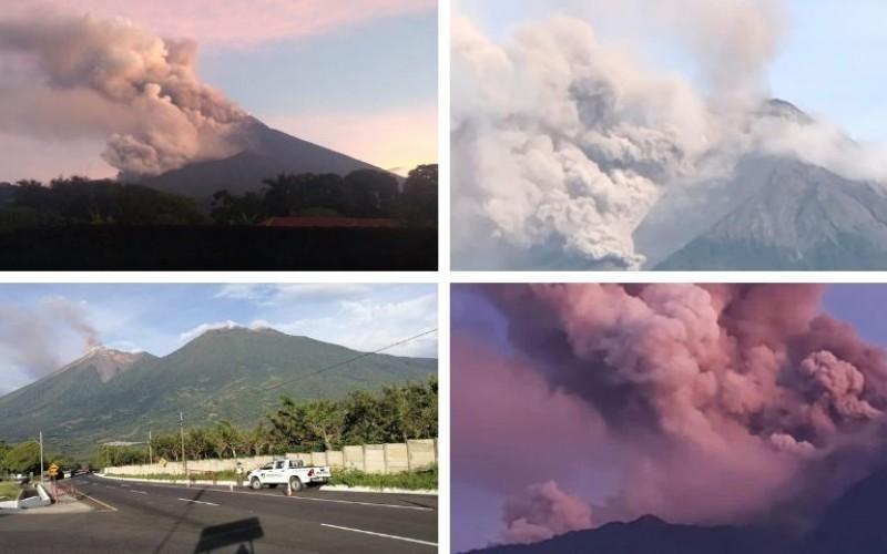 Guatemala alerta por erupción del volcán de Fuego