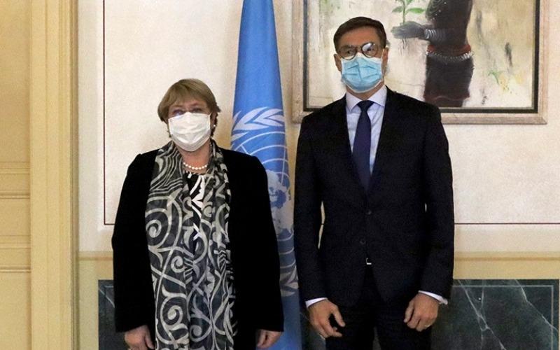 Canciller plantea a Bachelet proteger DDHH de venezolanos en el exterior