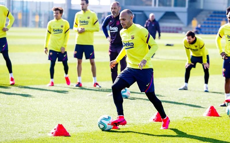Martin Braithwaite se incorporó a los entrenamientos del Barcelona
