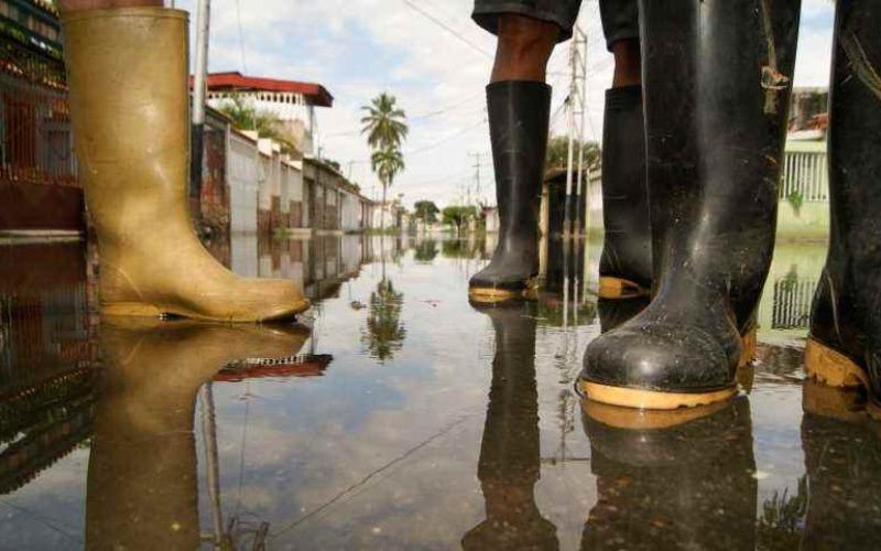 Colapso de aguas negras en las casas del municipio Caña de Azúcar en Maracay