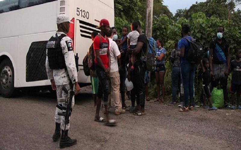 Migrantes haitianos fueron detenidos en el sur de México y retornados